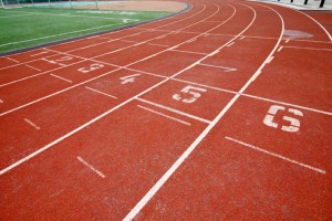 Abstract view of running track